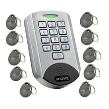 Metal Case Standalone ID Access Control Backlight Keypad with 10 user cards(China)
