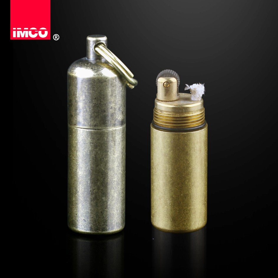 Original IMCO Lighter Vintage Gasoline Kerosene Lighter Genuine Brass Cigarette Lighter Cigar Fire Briquet Petrol Lighters-in Cigarette Accessories from Home & Garden