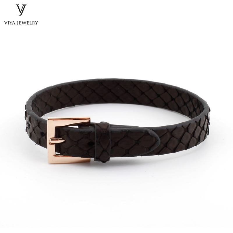 10mm Width Flat Real Stingray&Python Leather Wristband Adjust Men Bracelet Simple Clasp Flat Leather Watch Band Cuff Bracelet букет обыкновенное чудо