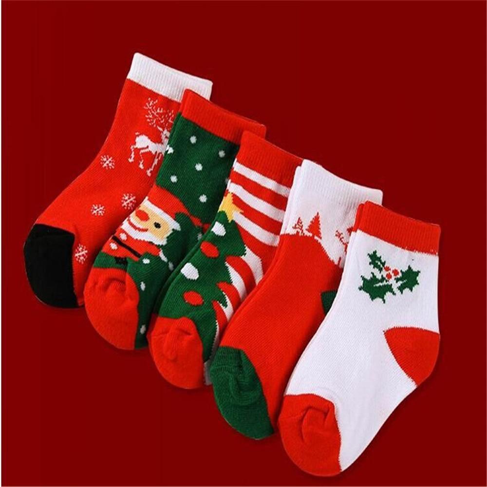 4Pcs Christmas Socks for Kids 2019 New Year Girls Cotton Soft Sock ...