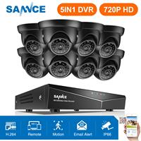 SANNCE 8CH 1080N DVR 1080 P HDMI NVR система видеонаблюдения 8 шт. 720 P TVI камеры безопасности IR внутренняя и наружная система видеонаблюдения комплект видео