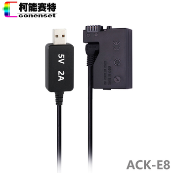 DC Power AC Adapter ACK-E8 ACKE8 DR-E8 LP-E8 for Canon EOS Rebel T2i T3i T4i T5i 550D 600D 650D 700D Kiss X4 X5 X6i DSLR Camera