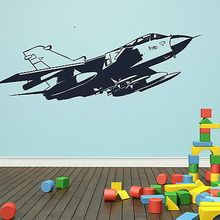 Free mail Unique Army Wall Decal Art Mural Poster Paper Raf Aeroplane Vinly decor sticker Sticker For Boys Room