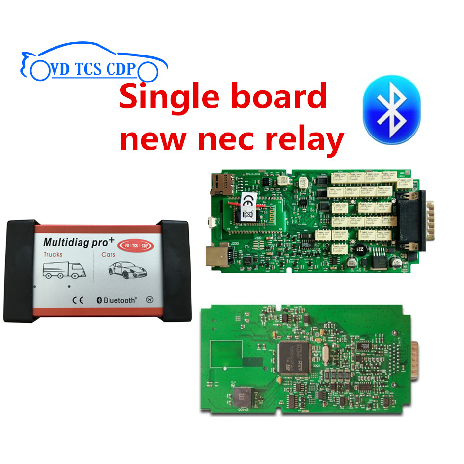2016 R0 free active newest version multidiag pro plus with single pcb new nec relay vd tcs cdp pro