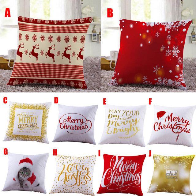 Merry Christmas Quality pillow cover Letter kids gifts decorative pillow Printed Decorative Pillow Festive custome for home