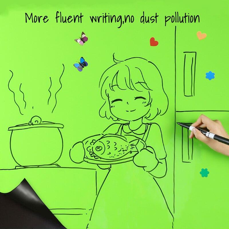 Гибкие железные удерживающие магниты, доска для рисования детей, граффити, зеленый цвет, доска для дома, офиса, школы, Декор, наклейки на стену - 5