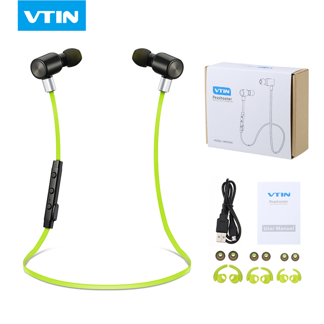 Hot !VTIN handsfree Bluetooth headphone wireless Bluetooth 4.1 Stereo sound Sports Earphone headphone headset With Microphone