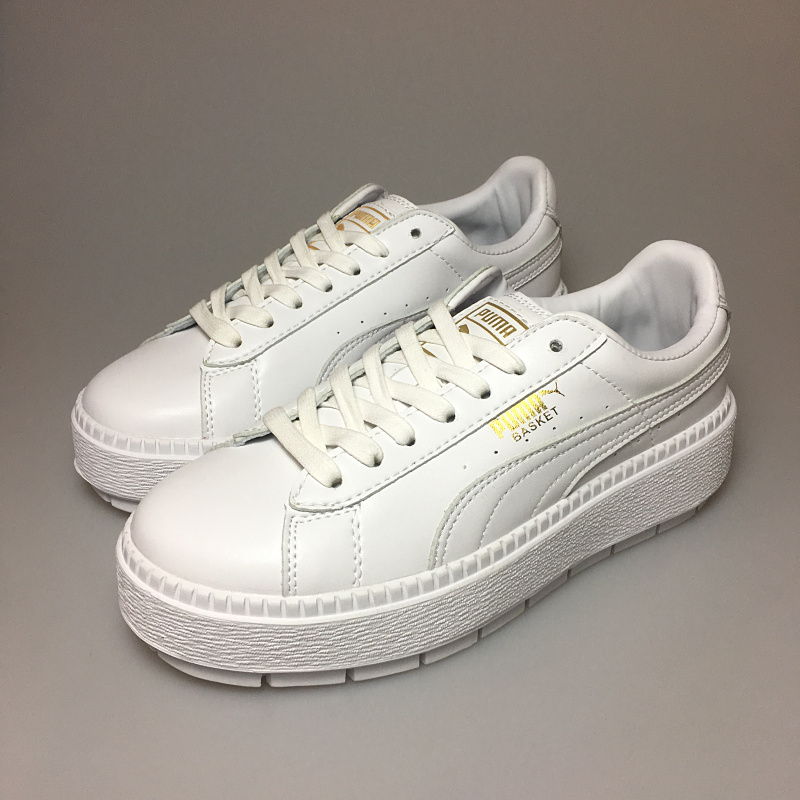 2018 New PUMA x FENTY Suede Cleated Creeper Womens Fourth Generation Rihanna Classic Basket Suede Tone Simple Badminton Shoes
