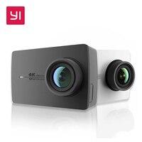 YI 4K Action Camera Ambarella A9SE Cortex A9 ARM 12MP CMOS 2.19 155 Degree EIS LDC WIFI Sports Camera Black White