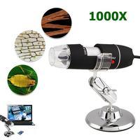 2MP 1000X USB Digital Microscope Endoscope Zoom Camera Magnifier Stand Device