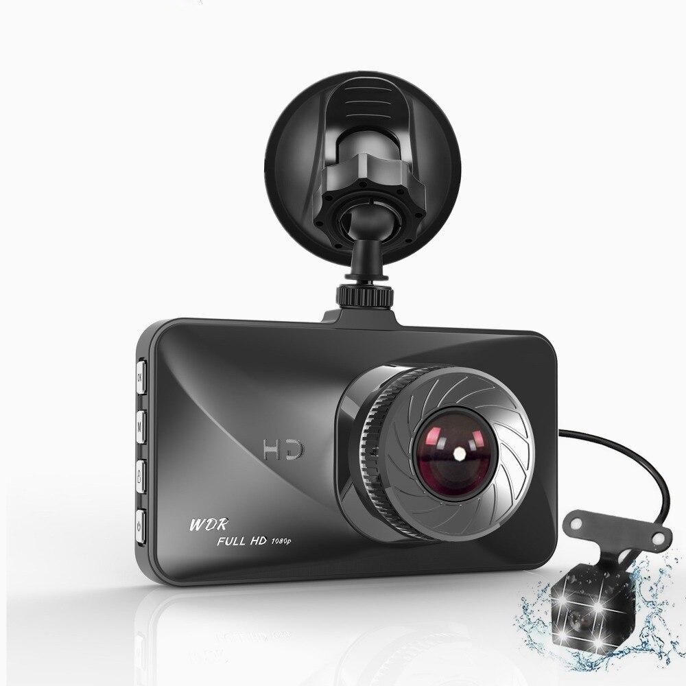 Car DVR Two-Camera Dashboard-Recorder Dash-Cam Auto-Video-Vehicle Dual-Lens 3inch Night-Vision