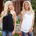 Новая Мода Повседневная Женщины Дамы Рукавов Свободную Рубашку Летом