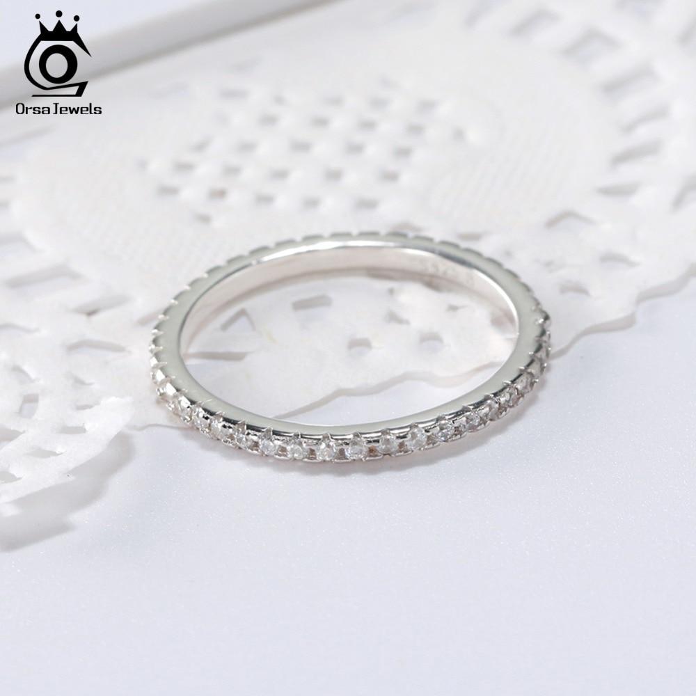 ORSA JEWELS 100% 925 Sterling Silver Rings Kvinnor Classic Round Full - Märkessmycken - Foto 3