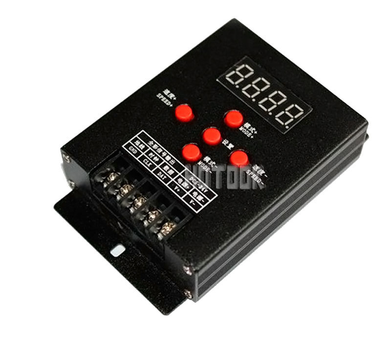 Full Color Mini Intelligent RGB LED Controller Point controll WS2811 WS2801 LPD6803 LPD1109 SM16716 TM1803 etc for led strip.