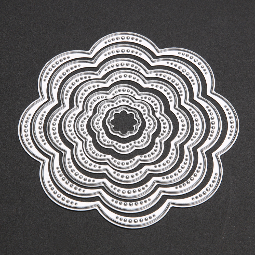 Aliexpress Buy 7pcs Circle Frame Flower Cutting Dies Stencils