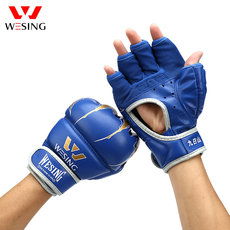 Wesing New MMA Grappling Gloves Half Finger Boxing Gloves Fighting Sandbag Training Gloves Eagle Claw Pattern