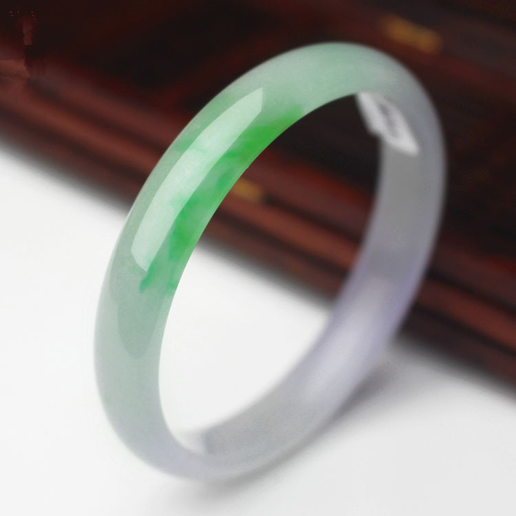 The ice Yang green wave flower old pit stone bracelet  /Appraisal certificate gift boxThe ice Yang green wave flower old pit stone bracelet  /Appraisal certificate gift box