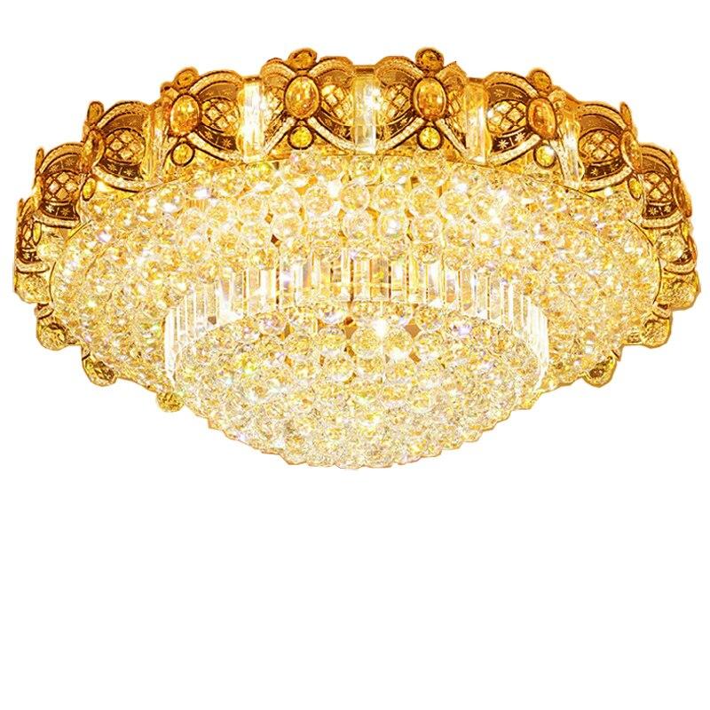 Moderne Lampade A Soffitto di Cristallo HA CONDOTTO LA Lampada Oro Soffitto Apparecchio di Illuminazione bianco Caldo Bianco Freddo Bianco Neutro 3 Colori Mutevoli - 4