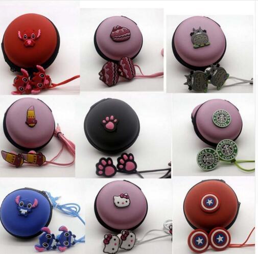 Hello Kitty Doraemon Cartoon oortelefoon mp3 in ear koptelefoon met opbergdoos voor for iphone samsung xiaomi kids oortelefoon