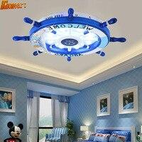 Mediterranean Boys And Girls Bedroom Lights Cartoon Children S Room LED Ceiling Lamp Creative Rudder Baby
