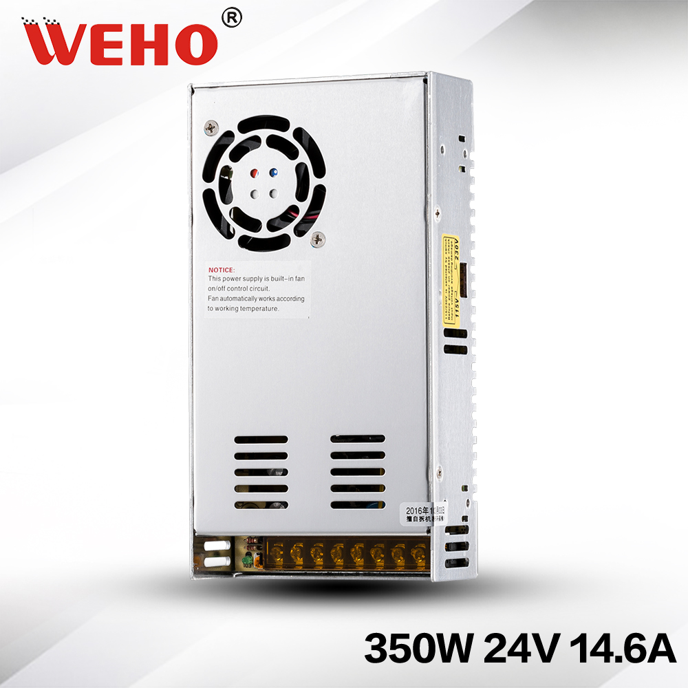 (S-350-24) 350w 24v dc switching power supply 24Vdc 3D printer power supply s 350 24 350w 24v non waterproof aluminium switching power supply cooling fan