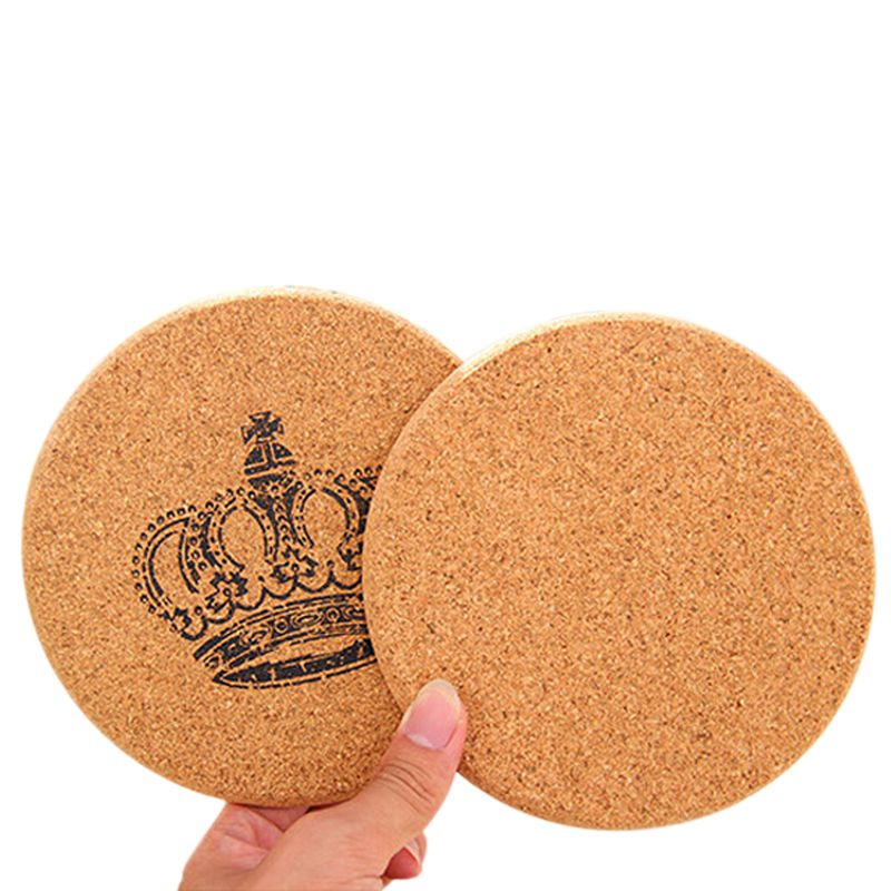 Cork Wood Drink Coaster Tea Coffee Cup Mat Japan Style Flexible Table Heat Resistant Round Drinks Mats For Home