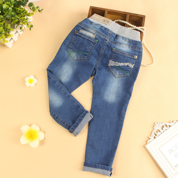 New Arrival Baby Girls Casual Denim Jeans Girls Cotton Jeans Child Spring Autumn Long Pants Kids Casual Trousers denyblood jeans darked wash jeans mens blue black cotton denim straight fit classic stylish casual pants male trousers 818
