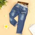 Nueva Llegada de los Bebés Denim Jeans Chicas Flacas Pantalones Niñas Pantalones Largos Niños Pantalones Casual Envío Gratis