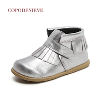 COPODENIEVE Children S Shoes Autumn Winter Toddler Boy Loafers Shoes Not To Tie My Shoe Leather