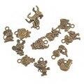 Fashion Jewelry Accessories Zinc Alloy Animal Chinese Zodiac Charm Pendant For Jewelry Making Ancient Bronze 2*12PCs