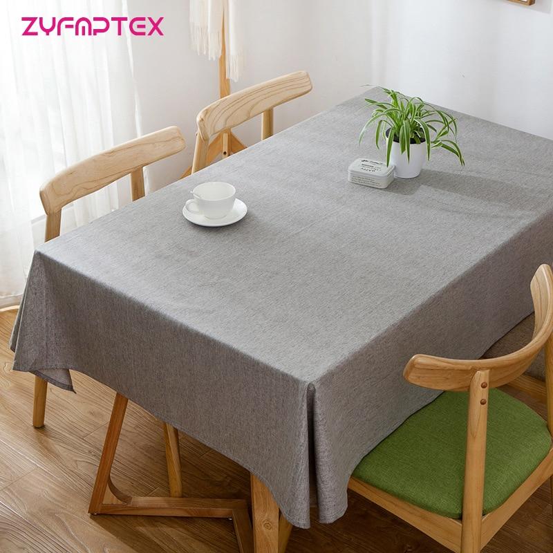 ZYFMPTEX Modern Polyester Table Cloth Waterproof ...