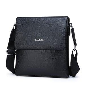Image 2 - FEIDIKABOLO بقرة جلد طبيعي حقيبة ساعي بريد للرجال حقيبة كتف صغيرة عادية رفرف الذكور رجل حقائب كروسبودي للرجال حقائب جلدية