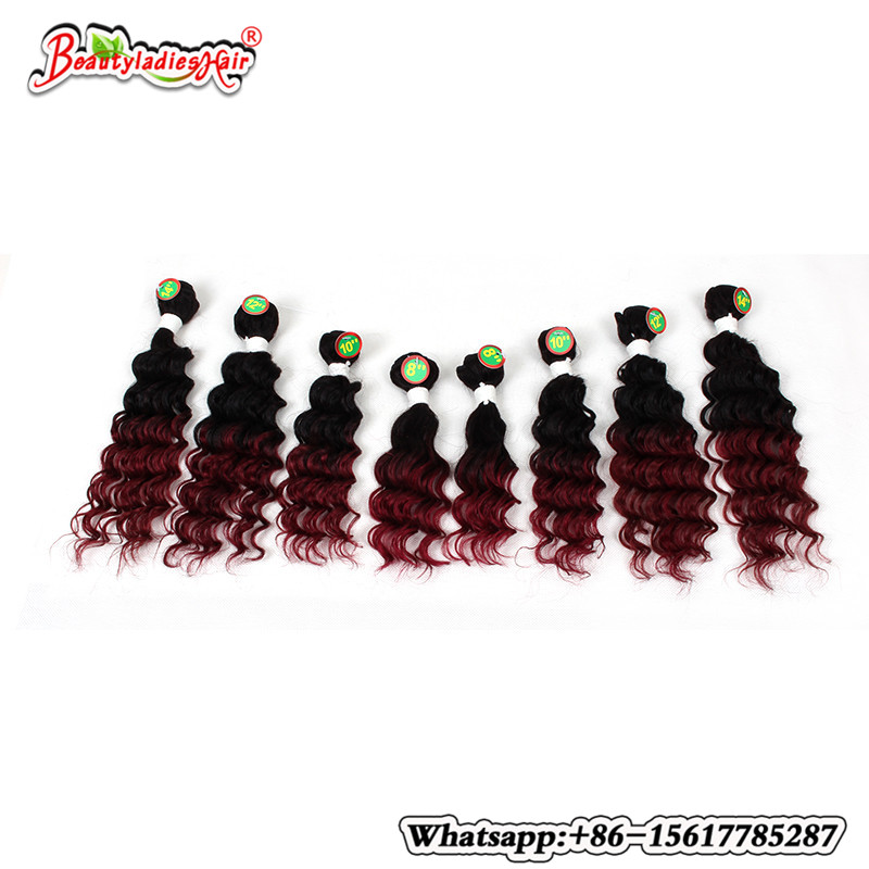 Eunice Hair Products 8Bundle Deep Curly Brazilian Kinky Curly - Syntetiskt hår - Foto 3