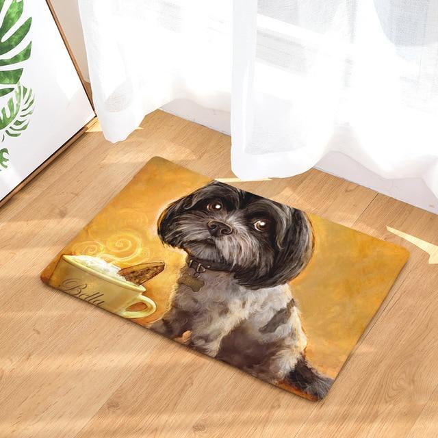 Doormat Carpets Oil Painting Dog Print Mats Floor Kitchen Bathroom Rugs 40X60  My Pet World Store