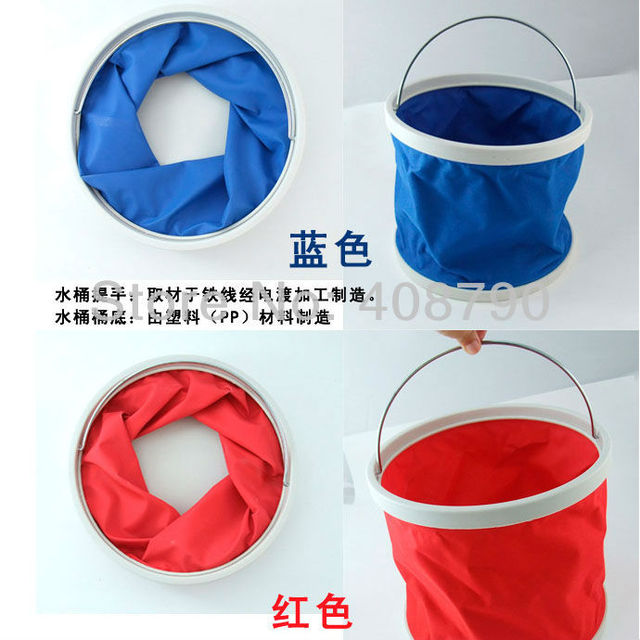The car outdoor supplies folding bucket multifunction portable fishing bucket 9L free shipping