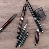 2019 new luxury colorful four color pen professional fountain pen production school office fountain pen 16pcs