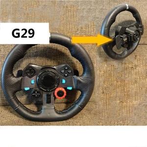 Image 4 - Base do volante com versão melhorada, carcaça de caixa para logitech g29 g27, acessórios para substituição de volante com paddles