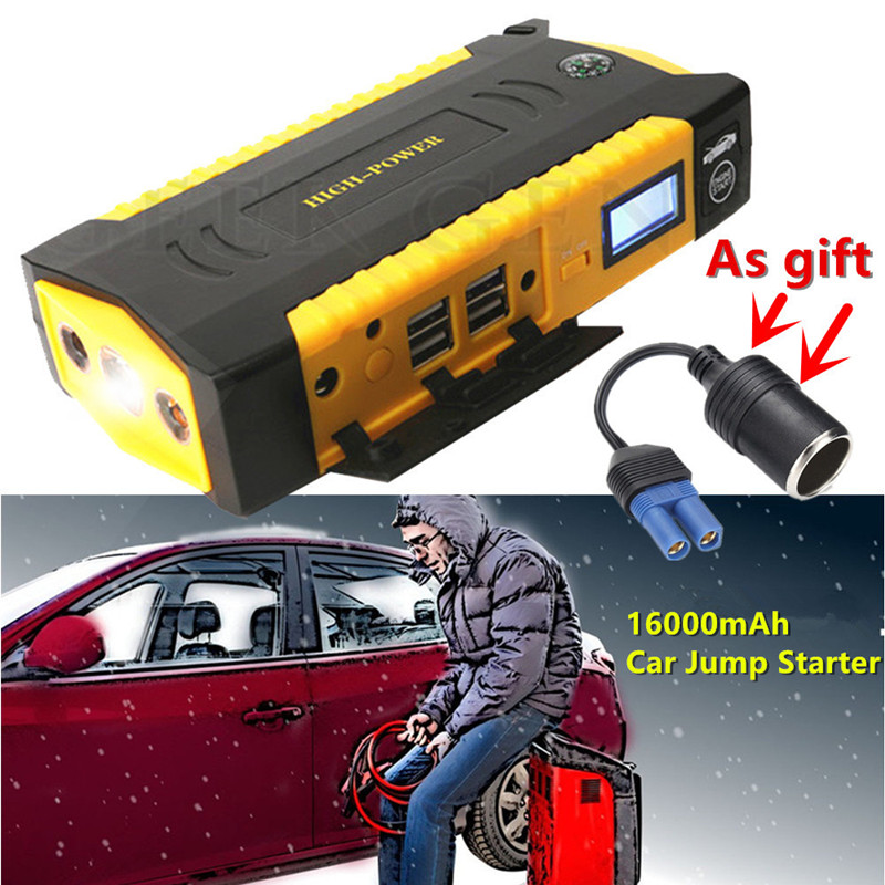 Multi Function Car Jump Starter 16000mAh Emergency Starting Device Power Bank 12V 600A Car Battery Charger