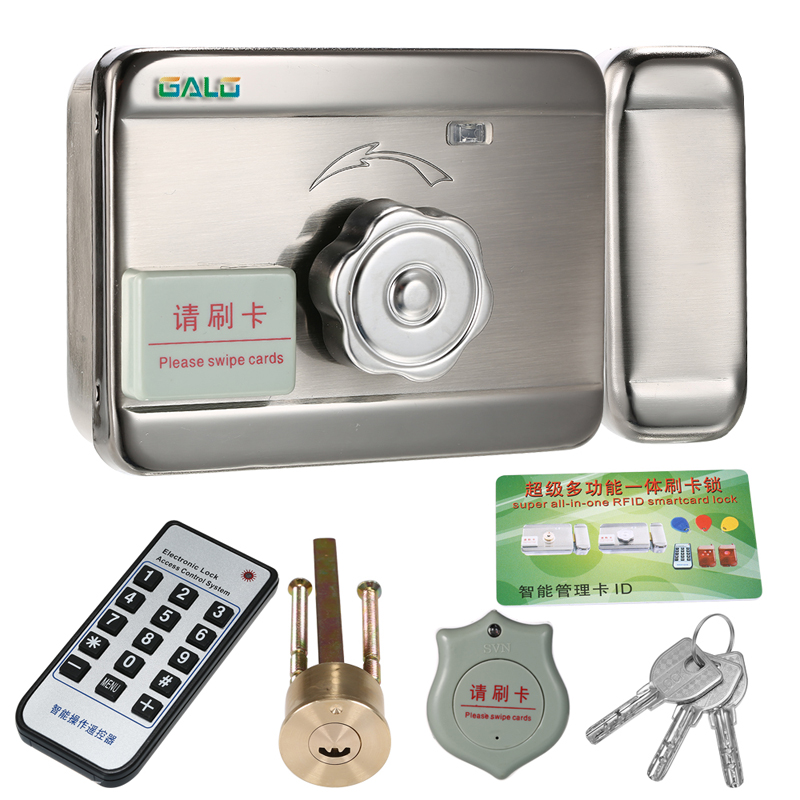 Outdoor Remote Control ID Tags Electric Lock & Gate Lock Access Control System Electronic Integrated RFID Door Rim Lock