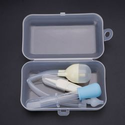 4Pcs Newborn Baby Care Kit Healthcare Nasal Aspirator Dropper Feeder Nursing Kit