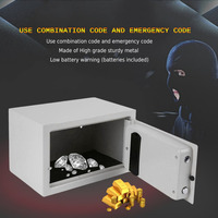 White Electronic Safe Household Wall Electronic Locks Safe Deposit Box Money Jewellery Cash Store Documents Security