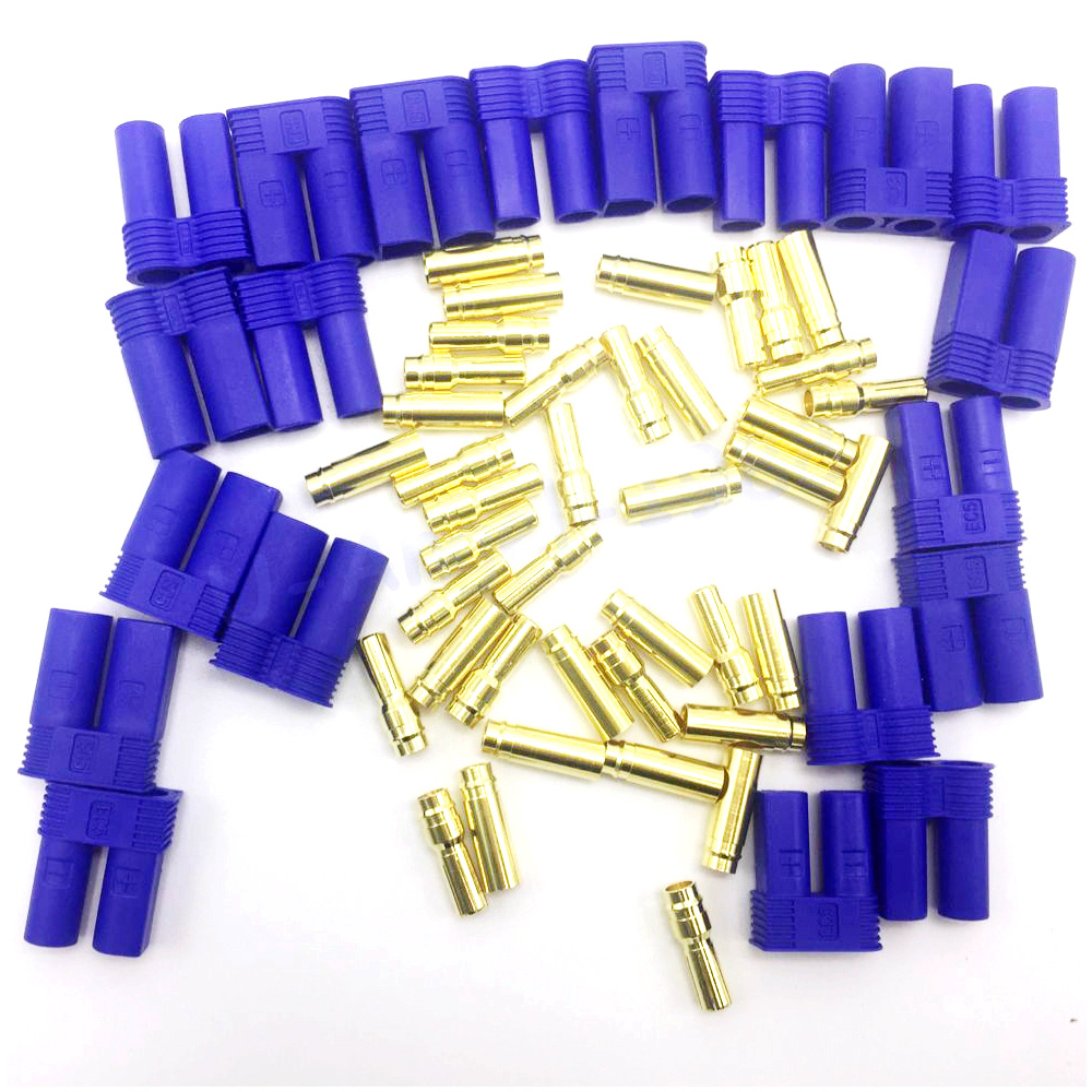 10pair/lot EC5 Banana Plug Bullet Connector Female+Male For RC ESC LIPO Battery/Motor