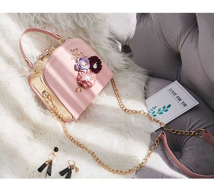 Women crossbody bag female messenger bag with long and short strap fashion designs flowers 58