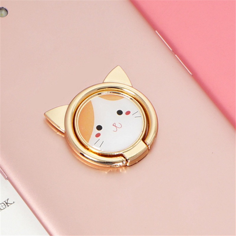 UVR Metal Animal Cat Finger Ring Smart Phone Stand Holder Mobile Phone Holder Stand For IPhone Xiaomi Huawei All Phone Mount