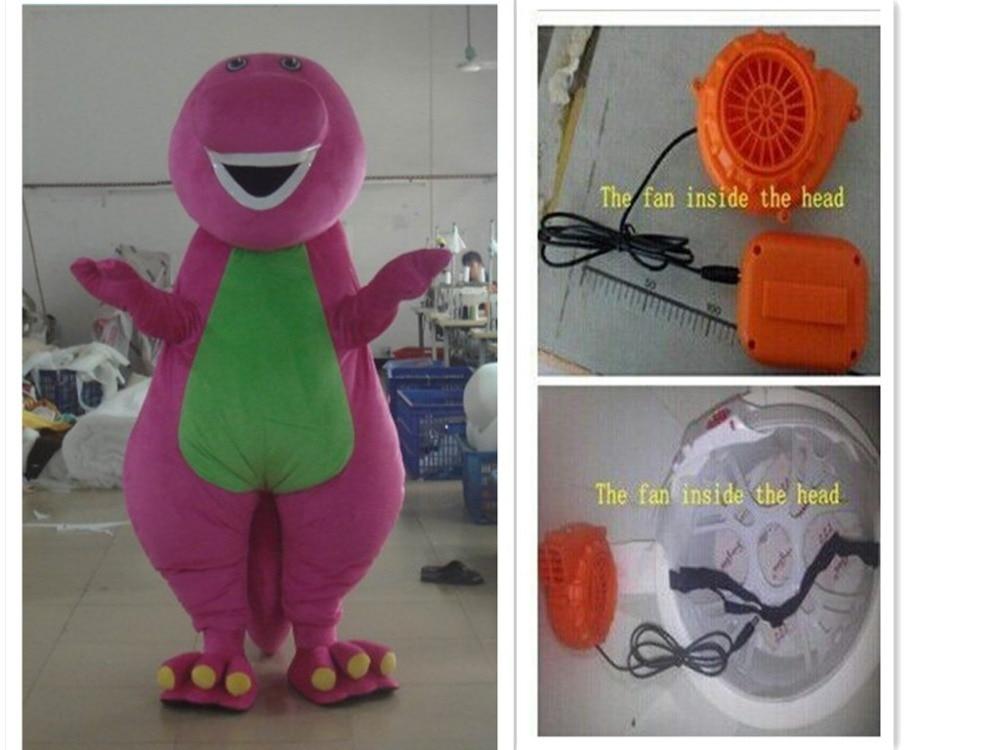 Барни взрослых мультфильм костюм талисмана Взрослый размер персонажи мультфильмов Бесплатная доставка