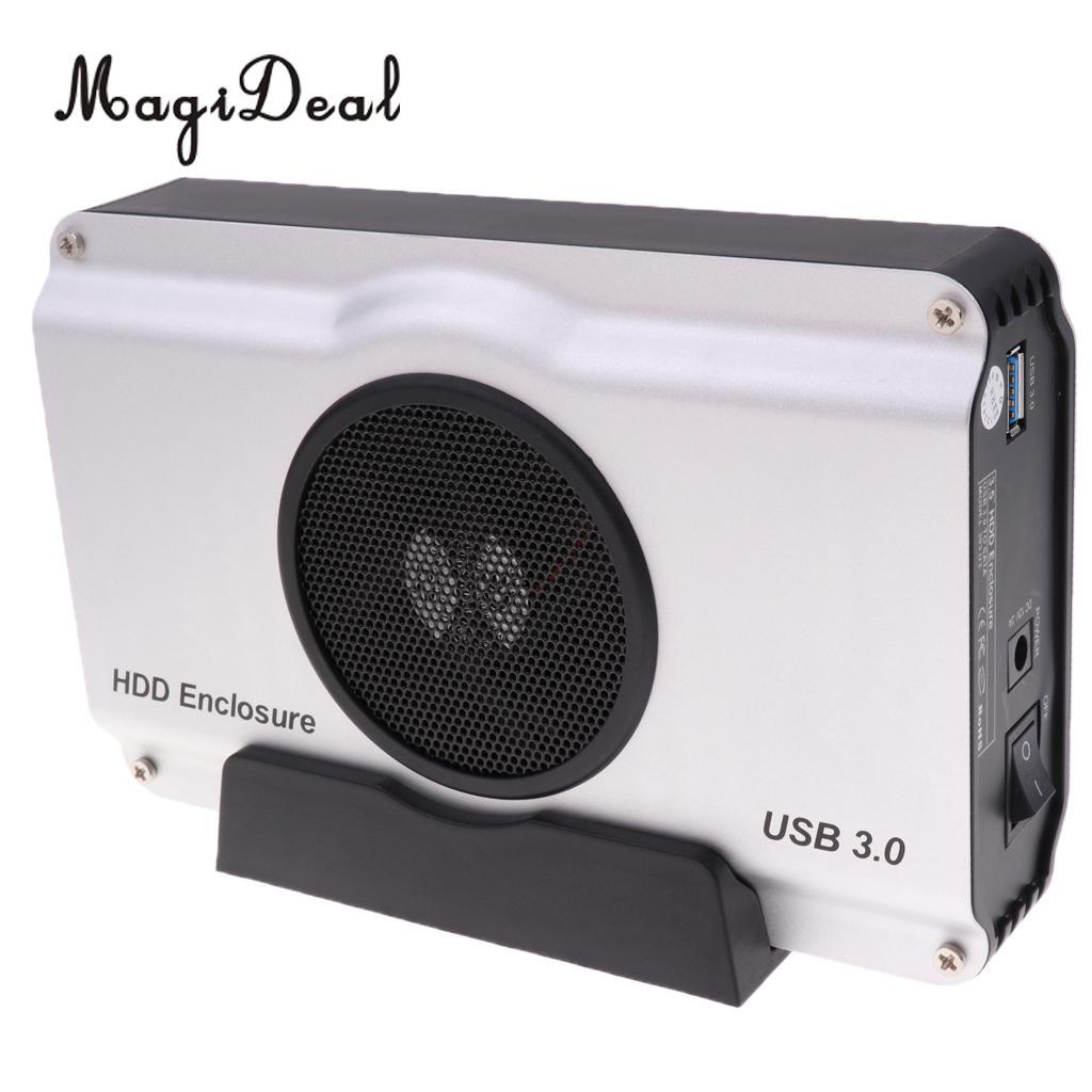 Jfory USB3.0 Boîtier USB 3.0 à 3.5 ''SATA De Bureau Disque Dur Cas et ventilateur de refroidissement dans Boîtes De Rangement de Maison & Jardin