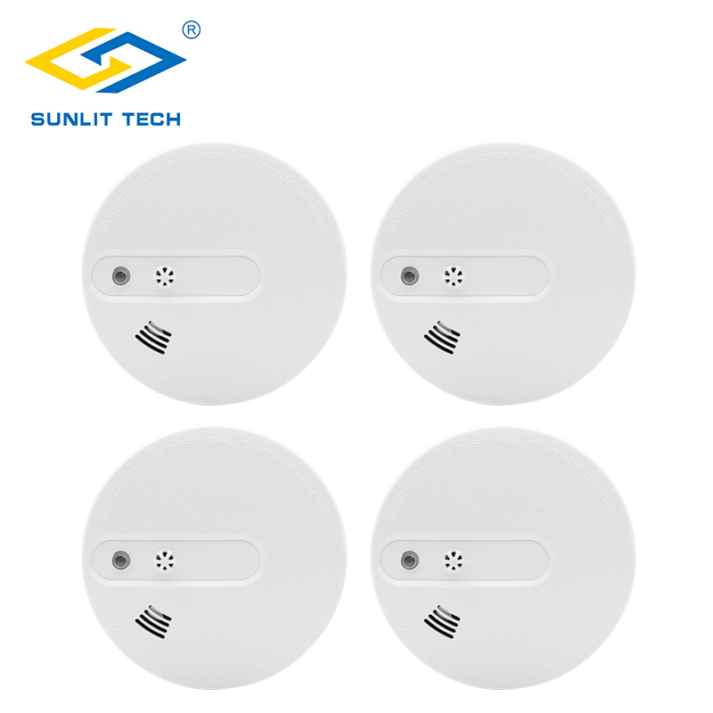 4pcs/Lot Wifi Wireless High Sensitive Smoke Fire Alarm Sensors Temperature Detector For 433MHz GSM PSTN Home Security System 433mhz wireless gas detector sensitive combustible co gas detector fire alarm sensor for wireless gsm pstn home security