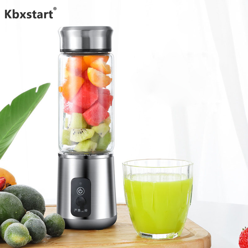 Portable Glass Smoothie Blender Juicer Cup Fruit Mixer Small Travel Blender for Shakes and Smoothies With 4400 mAh USB ChargedPortable Glass Smoothie Blender Juicer Cup Fruit Mixer Small Travel Blender for Shakes and Smoothies With 4400 mAh USB Charged