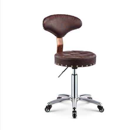 Beauty Chair Rotary Lifting Stool Explosion-proof Stool Barber Chair Work Bench Hairdressing Salon Rotary Stool Round Pulley Mas