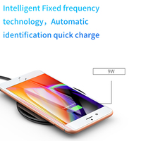Baseus 10W Qi Wireless Charger For iPhone X 8 Transparent Glass Wireless Charging Pad For Samsung Galaxy S9 S8 Note 8 Oppo Vivo 4